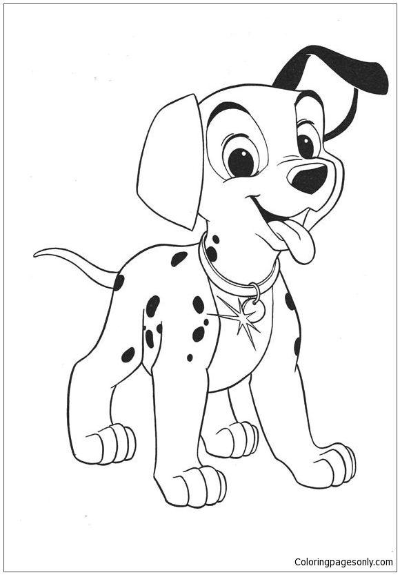 101 dalmatians puppy coloring page