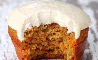 """Faible en gras et facile à faire, ces """"Cupcakes"""" aux carottes sont à tomber par terre!"""
