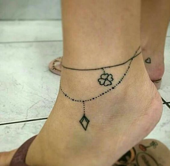 Like the way the bottom one drapes correctly | Ankle Tattoo Designs - Tattoo Designs For Women!
