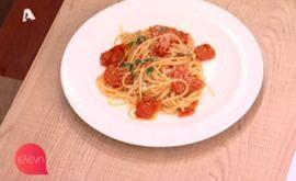 #Μακαρόνια με #σάλτσα από #τοματίνια και 5 υλικά #eleni #ελενη #ΓιώργοςΠαπακώστας