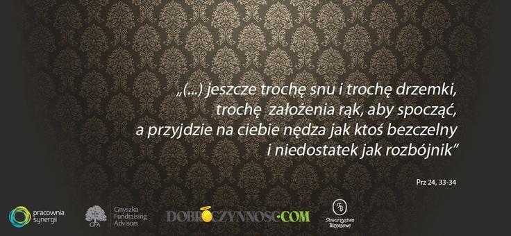 Prz 24, 33-34 #rozbójnik #nędza #sen