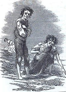 The Great Famine (Irish: an Gorta Mór, [anˠ ˈgɔɾˠt̪ˠa mˠoːɾˠ]) or the Great Hunger was a period of mass starvation, disease, and emigration in Ireland between 1845 and 1852.[1] It is sometimes referred to, mostly outside Ireland, as the Irish Potato Famine, because about two-fifths of the population was solely reliant on this cheap crop for a number of historical reasons.