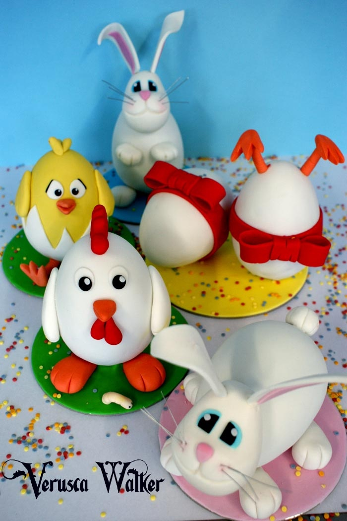 """How to decorate an Easter Egg with fondant by Verusca Walker """"Video tutorial"""""""