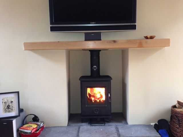 Precision 1 Multi Fuel Stove with Solid Oak Mantle