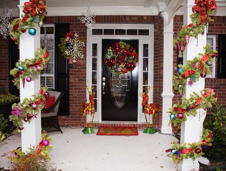 Outdoor Decorating For Christmas 74 best christmas outdoor decor ideas images on pinterest