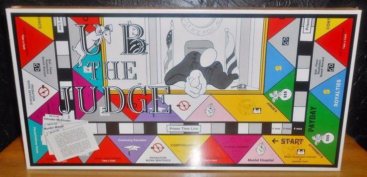 VTG 1985 U B The Judge Crime And Punishment Board Game by Edu-Game Enterprises #EduGameEnterprises