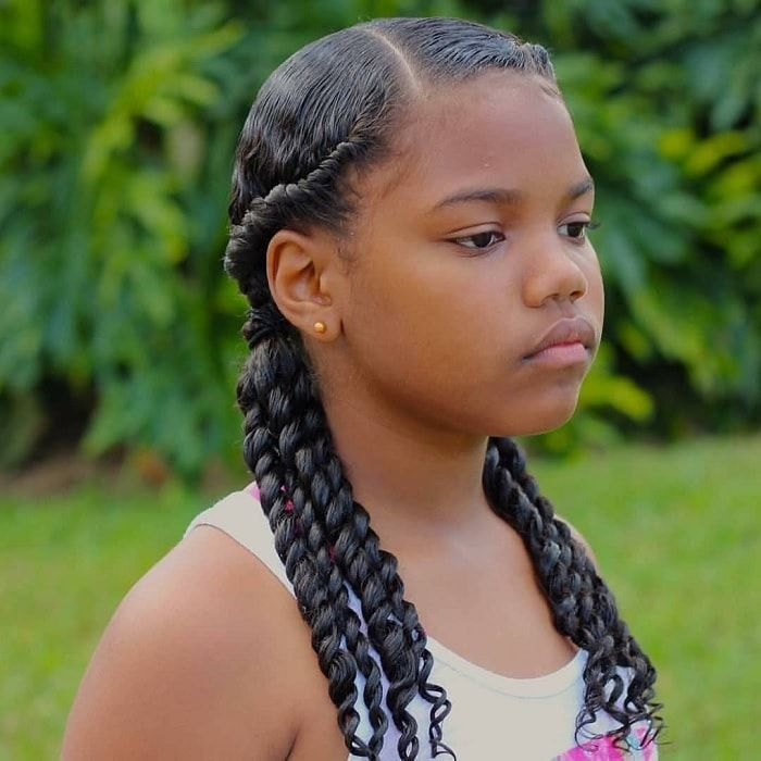 15 Glam Hairstyles For 10 Year Old Black Girls 2019 Guide Kids Braided Hairstyles Girl Hairstyles Kids Hairstyles