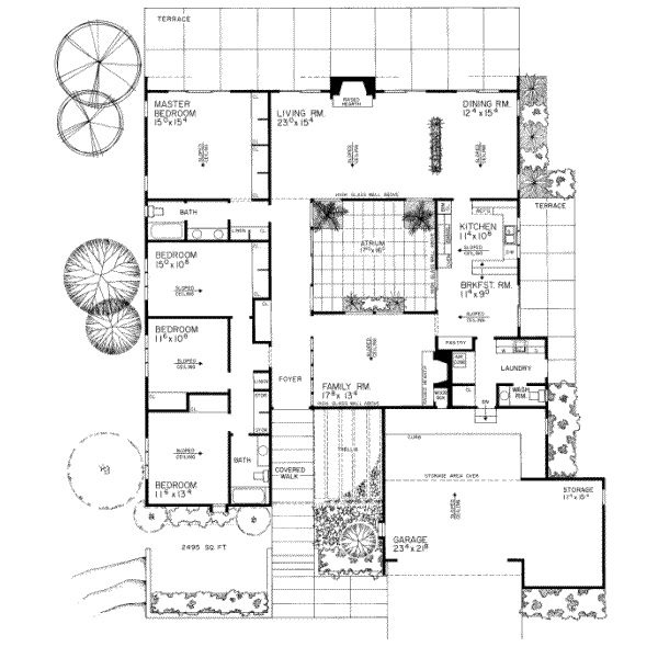 This 2495 square feet contemporary style 4 bedroom, 2 bath with 2 garage stalls falls in the 2000-3000 square feet range.