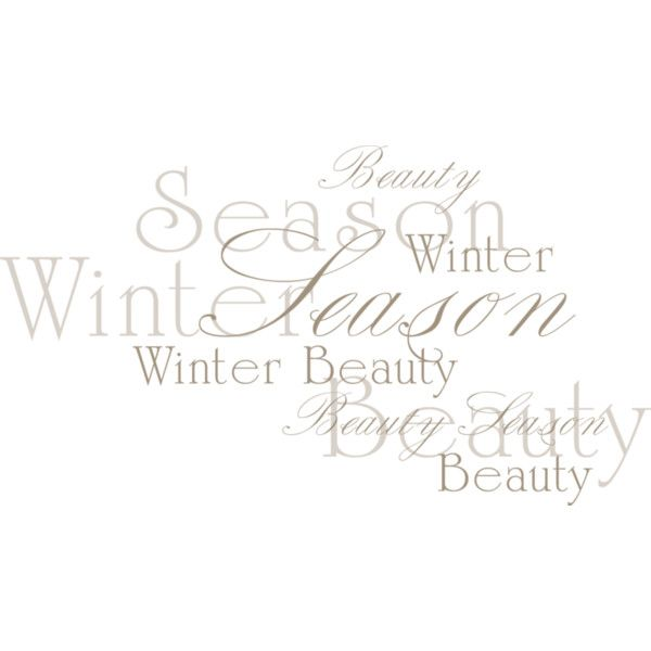 NLD Addon Word Art 2 Liked On Polyvore Featuring Text Winter