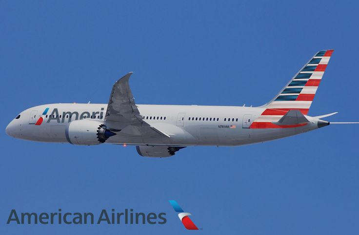 Boeing 787 Dreamliner, imagined in the livery of American Airlines