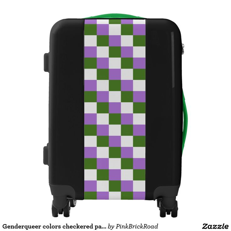 Genderqueer colors checkered pattern luggage