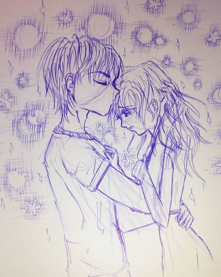 Weine nicht.  Endlich mal ne weitere Kugelschreiber-Skizze von mir. Dachte mir ich zeichne man ein Paar… Leider kann ich echt keine Hände zeichnen :S  #paar #zeichnung #kiss #kuss #pair #drawing #skizze #kugelschreiber #pen #shoujo #hair #haare #liebe #love #manga #anime #mangakiss #umarmung #mädchen #girl #man #boy #trösten #cry #dontcry #nichtweinen #junge #frau #women #animekiss