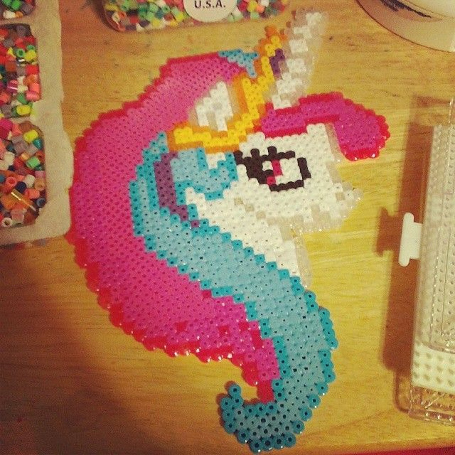 My Little Pony perler fuse beads by somethingsweet16