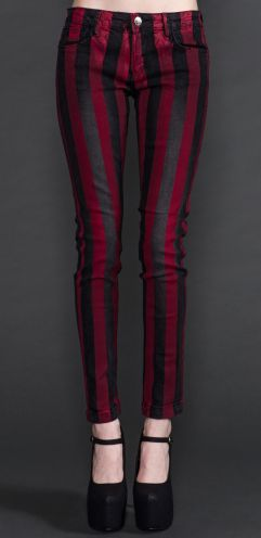 • Lip Service Black and Red Skinny Jeans •