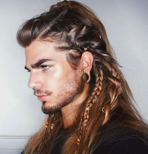 33 Cool Braids Hairstyle For Men You Want To Try Mens Braids Hairstyles Hair Styles Long Hair Styles