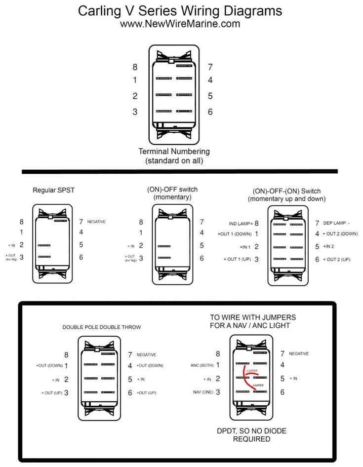 Lighted Rocker Switch Wiring Diagram Webtor Me And Toggle