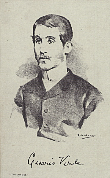 Cesário Verde, Portuguese poet. His work, while mostly ignored during his lifetime and not well known outside of the country's borders even today, is generally considered to be amongst the most important in Portuguese poetry and is widely taught in schools. This is partly due to his being championed by many other authors after his death, notably Fernando Pessoa.