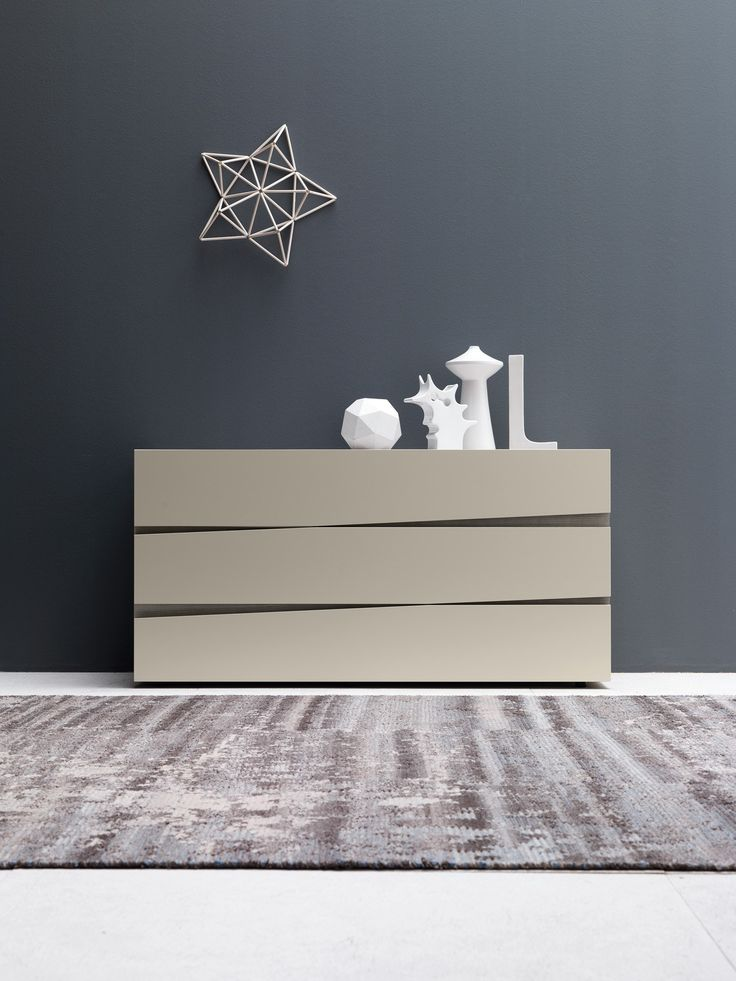 Commode laquée en bois de style contemporain Jazz Collection Letti_beds by Presotto Industrie Mobili | design Claudio Lovadina