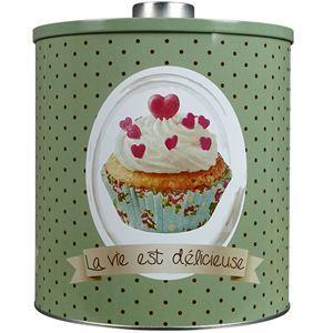 Boîte à cookies design cupcakes
