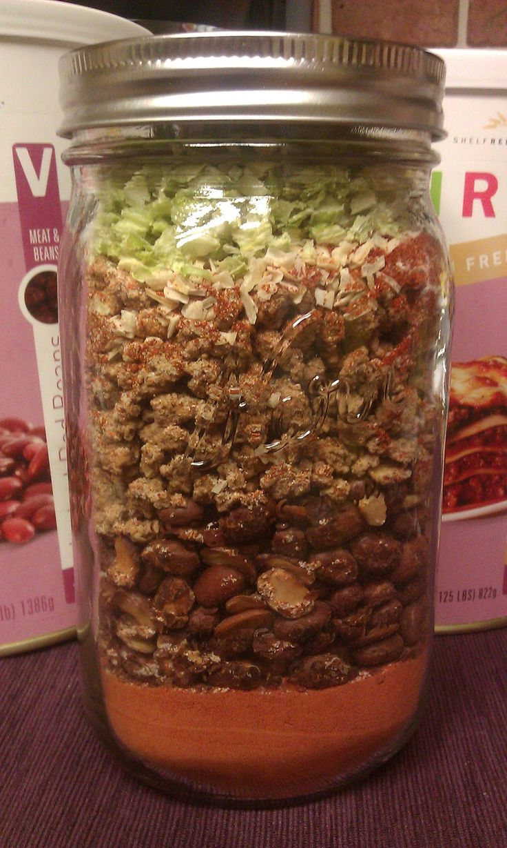 Chili - Meal in a Jar made with THRIVE freeze dried foods - for super busy days when you need a meal in a hurry but MUCH HEALTHIER than drive thru.