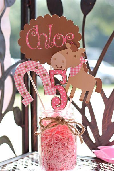 girls horse themed birthday party | Horsin' Around at Chloe's 5th Birthday - Momazine