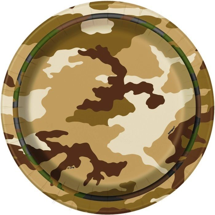 Army Snack Plates | Army Camouflage Birthday Party | Party Snack Plates