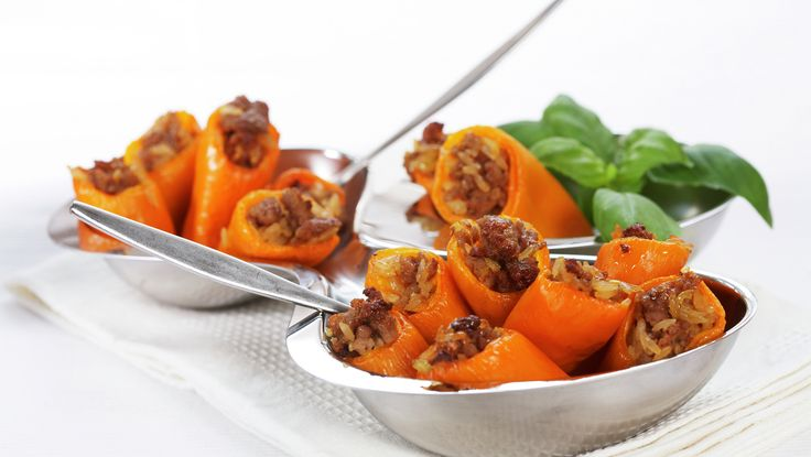 PRØVD - Fylt paprika med ris og karbonadedeig