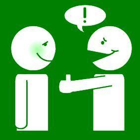 Pictogram Complimentje geven groen