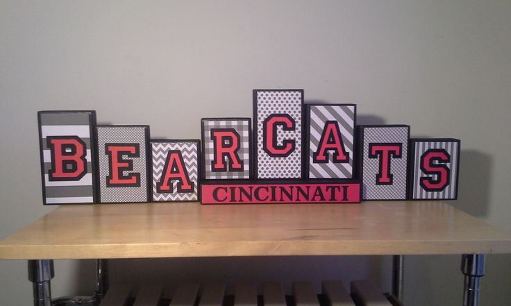 University of Cincinnati UC BEARCATS Wooden Block Set by WoodenBlockSets on Etsy