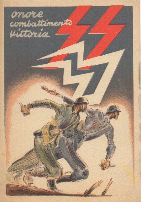 "Italian  WW2  ""Honor-Combat-Victory"""
