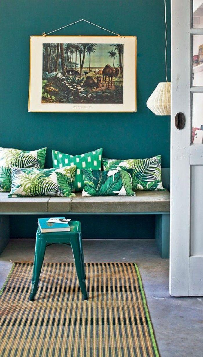 Super Interessante Wohnzimmer Wandgestaltung Bild An Der Grünen Wand