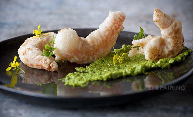 Bresc Garlic chopped – kefir lime – soy sauce – scampi – pea