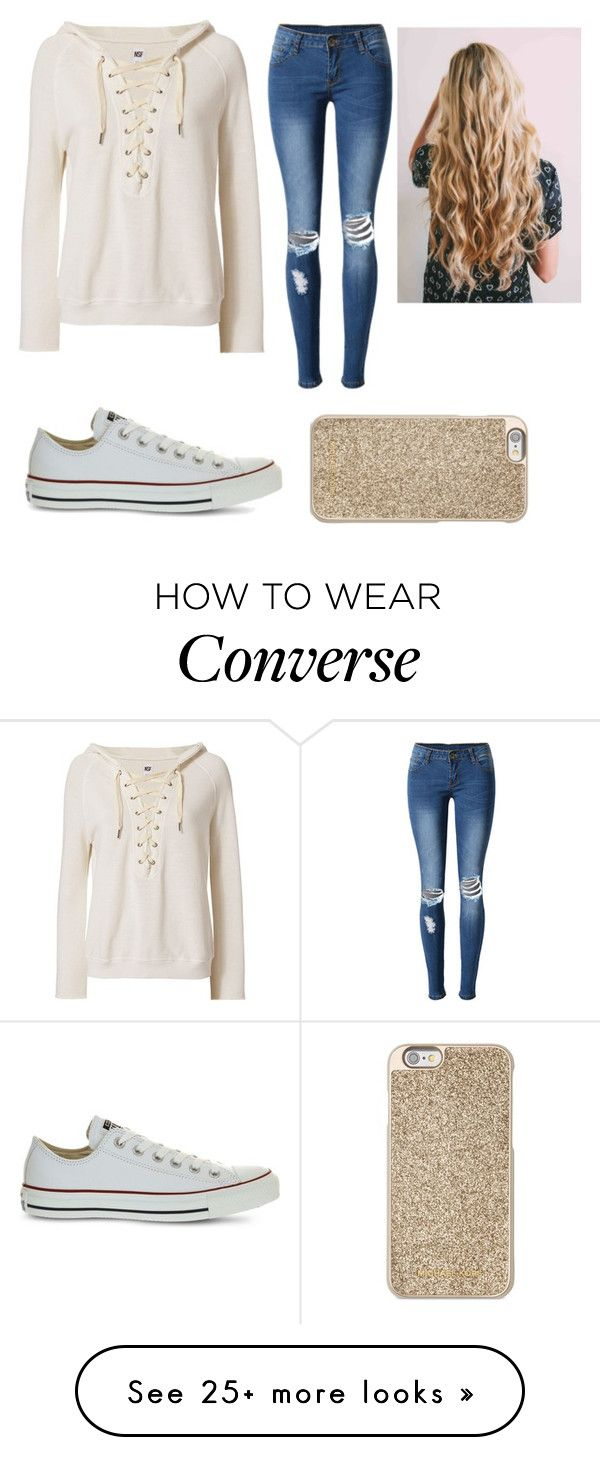 """""""Rainy day"""" by gretchenlover on Polyvore featuring NSF, WithChic, Converse and Michael Kors"""