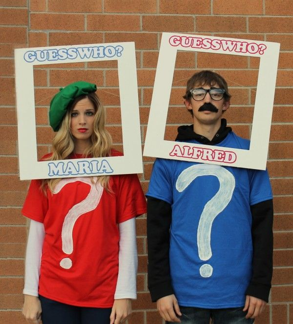 guess who boardgame couples halloween costume idea - Creative Halloween Costume Idea