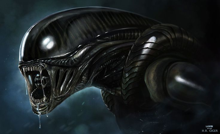 ALIEN - H.R. GIGER PITCH - by DanLuVisiArt.deviantart.com on @deviantART - This Daily Deviation is given in honor of Swiss surrealist artist H. R. Giger who has passed away on May 12th, 2014. Hans Rudolf was counted among the most iconic of art icons of our time, undoubtedly best known for his nightmarish Xenomoprh, the creature that instantly comes to many people's minds at the notion of aliens.