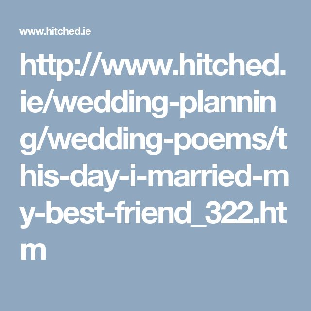Marriage Ceremony Quotes For Friend: 17 Best Ideas About Wedding Poems On Pinterest
