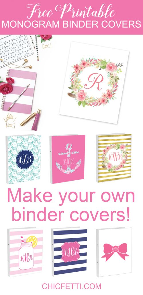 Free Monogram Maker Binder Covers