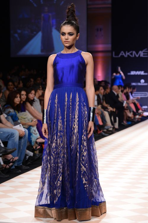 Indian Couture. Anita Dongre. Navy. Blue. 2013. Clothing. Gown.