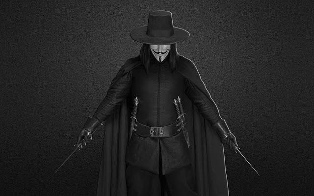 خلفيات كمبيوتر عالية الجودة لمحبي الهكر Vendetta Wallpaper V