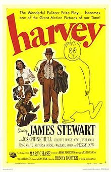 Jimmy Stewart and an invisible giant rabbit make for one of the greatest comedies of all time!James Of Arci, Rabbit, Film, Harvey 1950, Favorite Book, Jimmy Stewart, Favorite Movie, Posters, James Stewart