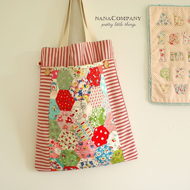 handmade hexagon tote bag by nanaCompany, via Flickr