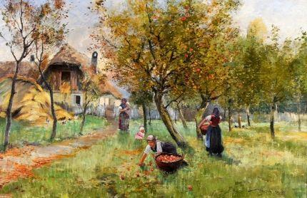 UJVÁRY IGNÁC (1860-1927) - Almaszedők