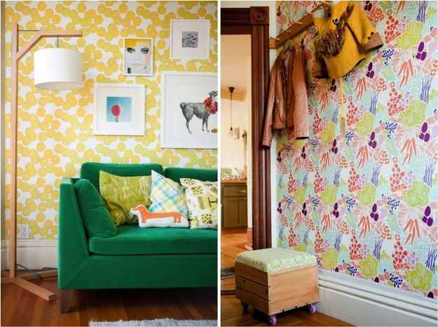 4. Customize removable wallpaper | 8 Ways To Add Character To Your Bare-Bones Rental Apartment