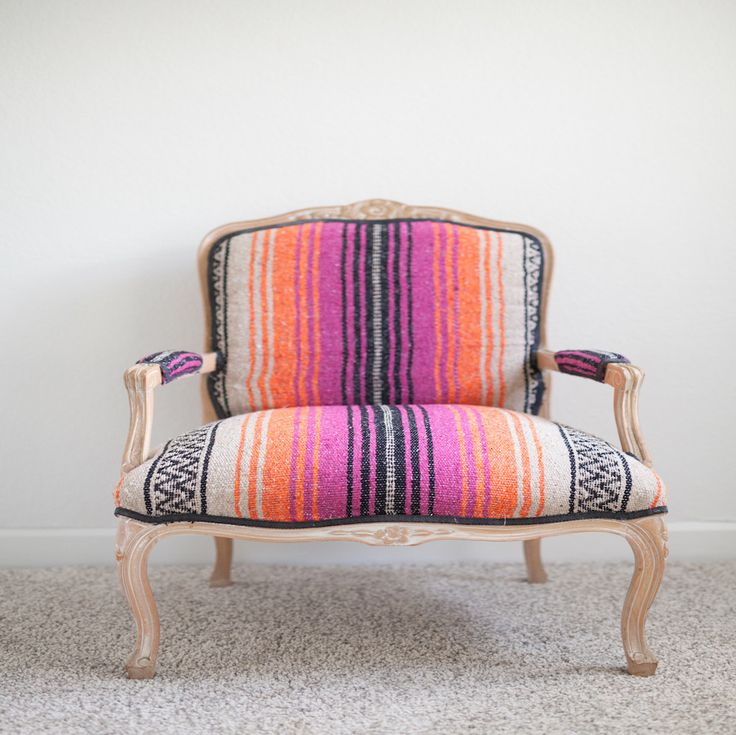 Striped Mexican Chairs | Serape, Bright, El Cosmico, Marfa Inspired | Birch & Brass Vintage Rentals | Weddings and Corporate Events | Austin, Texas
