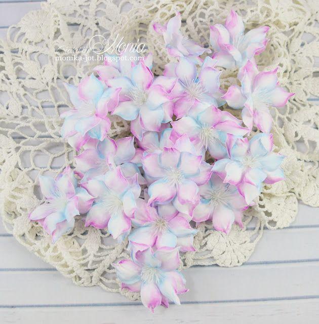 Fiolet I Blekit Handmade Flowers Handmade Flowers