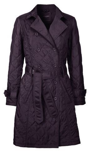 Ilse Jacobsen, Quilted Trenchcoat, Plum