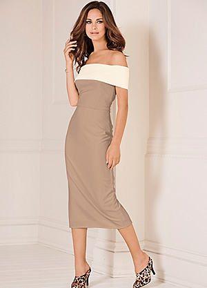 Textured Bardot Dress #kaleidoscope