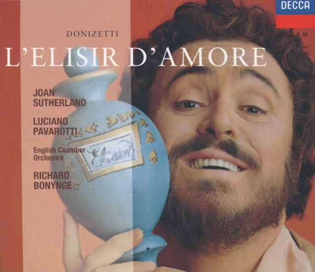 "L'elisir d'amore / Act 2: ""Una furtiva lagrima...Eccola!"", a song by Gaetano Donizetti, Luciano Pavarotti, Dame Joan Sutherland, English Chamber Orchestra, Richard Bonynge on Spotify"