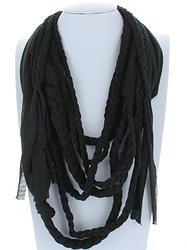 Black Braided Infinity Scarf