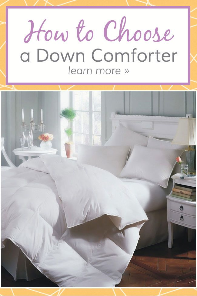 Down comforters are available in many options, fabrications, and price ranges. You can find a high end hypoallergenic comforter or a more modestly priced polyester filled option. Whichever option you choose, it's best to know what to look for before you make a purchase. Here are some things to keep in mind when shopping for a new comforter.
